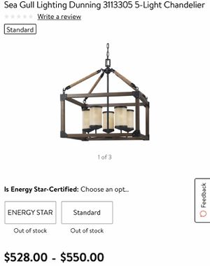 Sea Gull Dunning 3113305 - 5 light chandelier MSRP $550.00 Brand New Never Used Only $200 firm for Sale in Davie, FL
