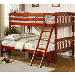Twin / full bunk bed with 1 twin mattress & 1 full mattress for Sale in Kearny, NJ
