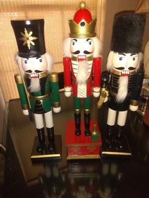 3 nutcrackers for Sale in Stone Mountain, GA