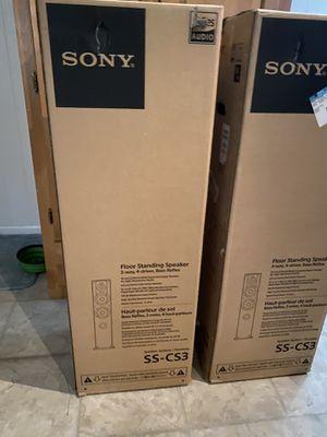 Sony as-cs3 floor standing speakers for Sale in Longview, TX
