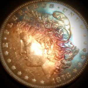 Rainbow toned monster morgan silver dollar 1878 s for Sale in Anaheim, CA