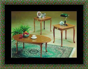 3pc coffee table Oak for Sale in Hyattsville, MD