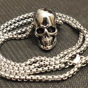 "Stainless Steel Skull Pendant On A Stylish 24"" Chain for Sale in Wichita, KS"