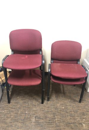 Office chairs - sturdy metal frame. Asking $5 each. for Sale in Los Ranchos de Albuquerque, NM