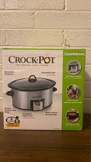 CROCK-POT(R) 4 QT. COUNT DOWN SLOW COOKER for Sale in Houston, TX