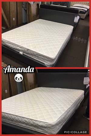 Queen bed frame with mattress included for Sale in Glendale, AZ