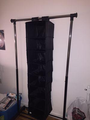 Black closet organizer for Sale in Jersey City, NJ