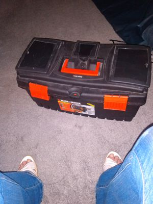 Plastic tool box black and decker like new for Sale in Alexandria, VA