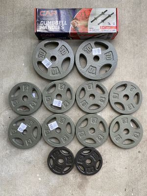 """65LB TOTAL DUMBELL 1"""" WEIGHT PLATE COMBO for Sale in Gainesville, FL"""