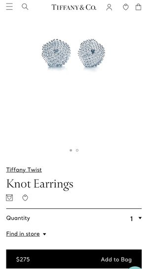 Tiffany&co knot earrings for Sale in Norco, CA