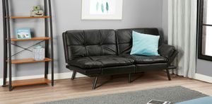 Mainstays Memory .Foam Futon, Black Leather for Sale in Houston, TX