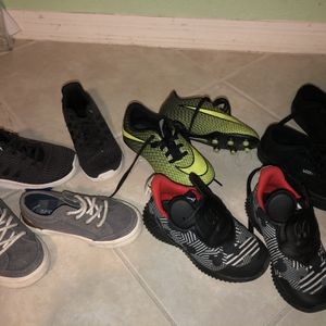 Boys Shoe lot Adidas Nike Sperry Vans Cleats for Sale in Miami, FL