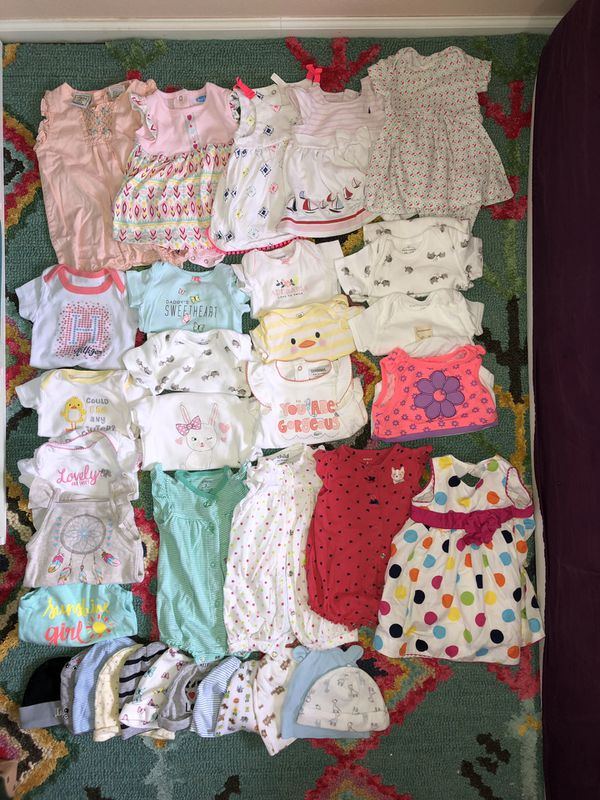 Baby girl cloth lots 3-6mo and two swaddle me
