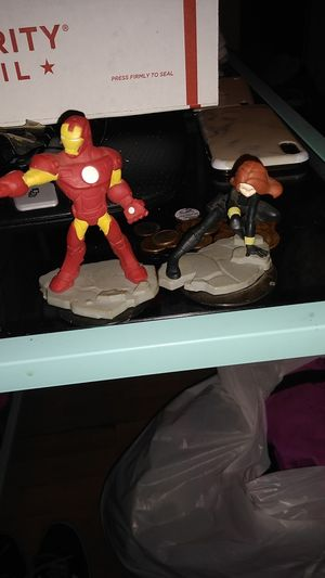 Marvel figures black widow and iron man for Sale in Myrtle Beach, SC