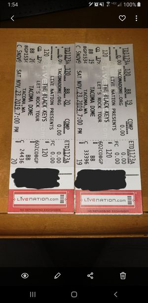 🎟 Black Keys Concert Tickets 🎟 for Sale in Bonney Lake, WA