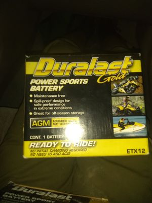 Duralast gold power sport battery ETX12 for Sale in Lake View Terrace, CA