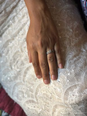 10kt Princess Cut Engagement Ring and Wedding Band for Sale in Hazard, CA