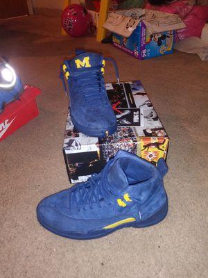 Michigan jordan 12s size 9 1/2 for Sale in Detroit, MI