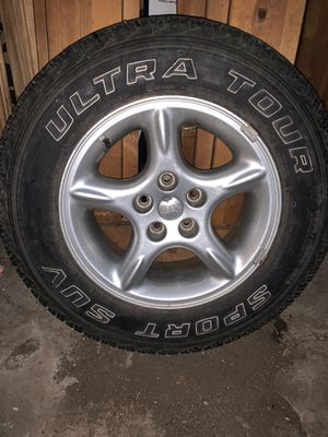 Jeep rims and tires for Sale in Des Moines, IA