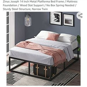 Narrow Twin Zinus 14 Inch Platform Bed Frame for Sale in Bothell, WA