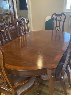 Solid Wood Antique Dinning Room Set And China for Sale in Farmingdale,  NY