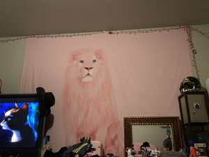 Pink lion tapestry for Sale in Pasco, WA