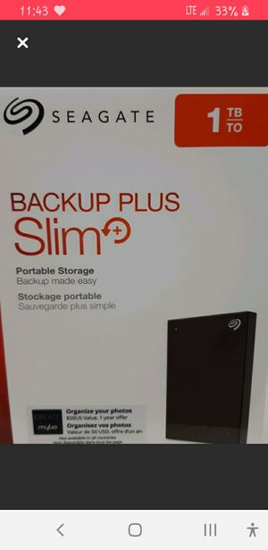 Seagate 1 TB Storage for Sale in Kansas City, MO