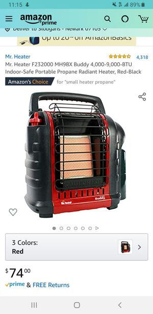 Small heater with propane for Sale in Newark, NJ