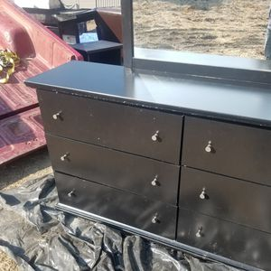 Ashley funiture black Maribel dresser with mirror for Sale in Visalia, CA