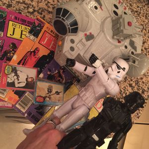 Star Wars. Toys 1977cards, And Return Of The Jedi 1-4 Marvel Comics From 1983 for Sale in Las Vegas, NV