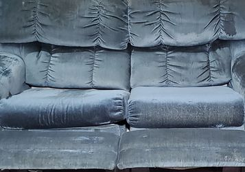 La-Z-Boy Modular Seating Blue Corduroy Reclining Loveseat for Sale in West Linn,  OR