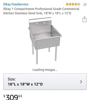 Grade commercial stainless steel sink for Sale in Olney, MD