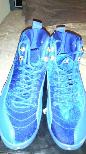 Jordan's blue swead shoes size 9 1/2 for Sale in Los Angeles, CA