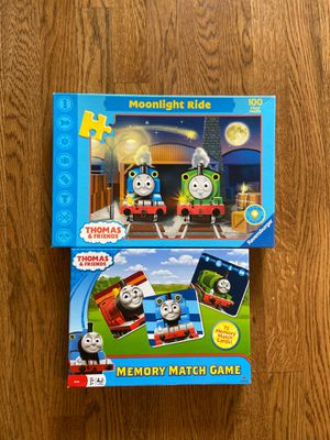 Thomas and Friends memory game and 100 pc puzzle for Sale in Murfreesboro, TN