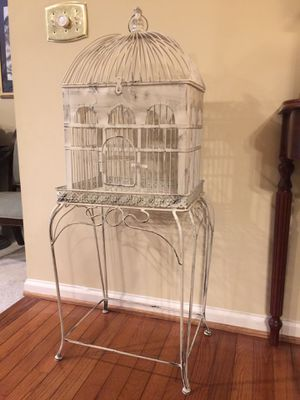 Decorative Bird Cage with Stand for Sale in Springfield, VA