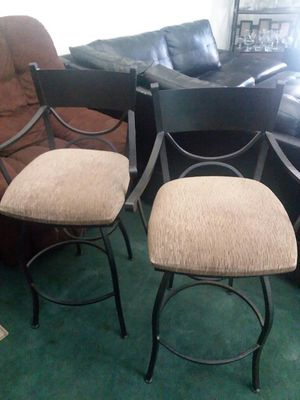 Beautiful black rod iron bar stools for Sale in Colton, CA