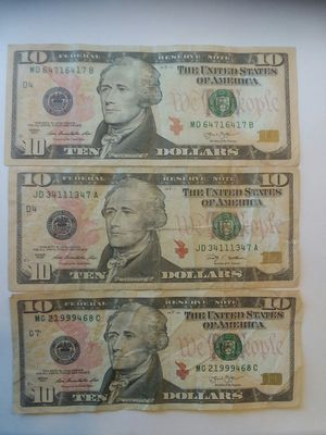 USA $10 ten dollars fancy serial number bills notes banknotes currency. for Sale in San Francisco, CA
