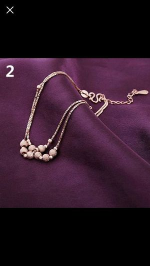 """Rose gold plated anklet bracelet about 7.5"""" long for Sale in Silver Spring, MD"""