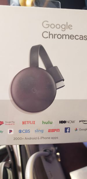 Google Chromecast 3rd Gen HDMI Media Streaming Latest Version New for Sale in Brockton, MA