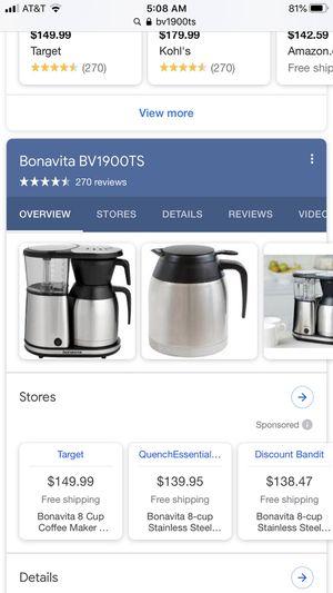 Bonavita coffee maker for Sale in Las Vegas, NV