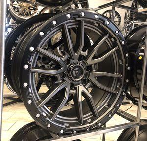 "BRAND NEW WHEEL! 20"" Fuel Rebel Matte Grey Black Rims Wheels 6x5.5 Nissan Chevrolet Dodge Anthracite Silver 20x9 for Sale in Tampa, FL"