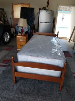 Solid wood Twin Bed With A Nightstand for Sale in Selma,  CA