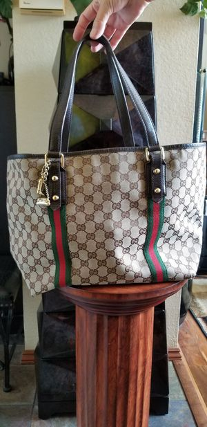Gucci Tote Bag GG Pattern Jolicoeur Immaculate Condition with Rare Charms (Authentic) for Sale in San Diego, CA