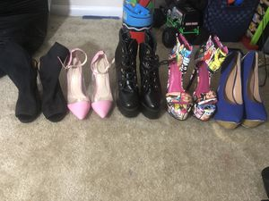 5 pairs of heels for Sale in Rockville, MD