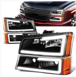 03-07 Chevy Silverado 1500 2500 3500 Avalanche LED DRL Headlights+Bumper Lamp - Black Housing for Sale in Fullerton,  CA