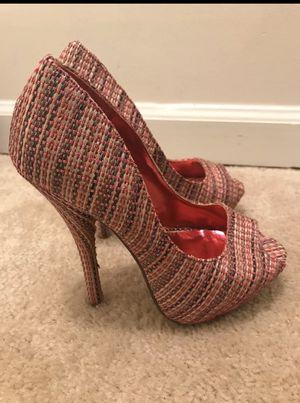 Like new woven fuschia heels for Sale in FX STATION, VA