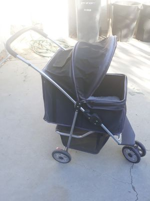 Dog stroller with sheep skin pad for Sale in San Jacinto, CA