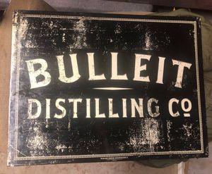 Bulleit Distilling Company Porcelain Advertising Sign for Sale in Atlanta, GA