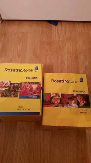 Rosetta Stone French or Italian Learning Software for Sale in Waterbury, CT