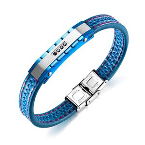 Blue leather with cubic zirconia bracelet. 🎁🎁🎁🎁🎁 for Sale in Chicago, IL